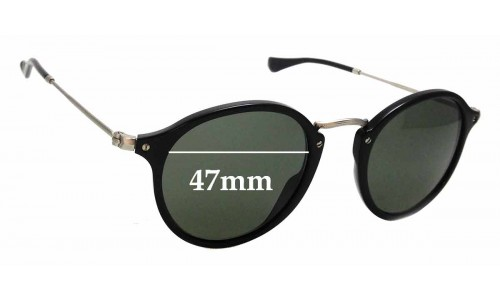 Sunglass Fix Replacement Lenses for Ray Ban RB2447-V - 47mm wide