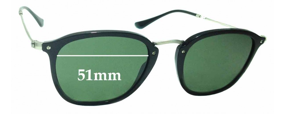 Sunglass Fix Replacement Lenses for Ray Ban RB2448-N - 51mm wide