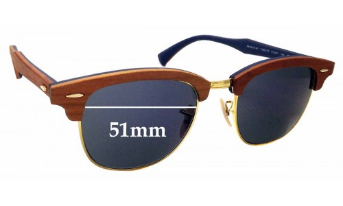 Sunglass Fix Replacement Lenses for Ray Ban RB3016-M Clubmaster - 51mm Wide
