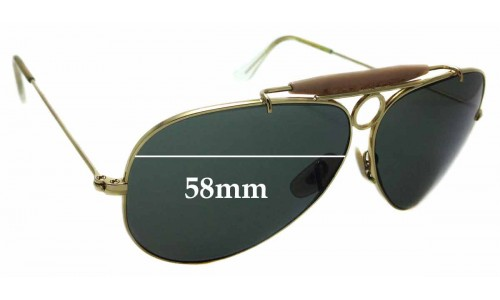 Sunglass Fix Replacement Lenses for Ray Ban Aviator RB3138 Shooter - 58mm wide