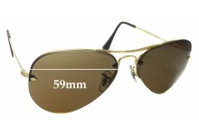 8df7dded411 Sunglass Fix Replacement Lenses for Ray Ban RB3214 Rimless Aviator 59mm wide