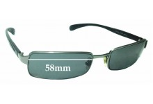 a5f4dc015a Sunglass Fix Replacement Lenses for Ray Ban RB3246 - 58mm Wide