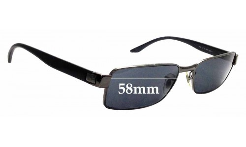 Sunglass Fix Replacement Lenses for Ray Ban RB3272 - 58mm wide