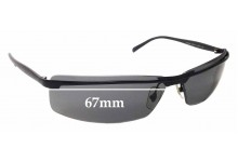 Sunglass Fix Replacement Lenses for Ray Ban RB3296 - 67mm Wide