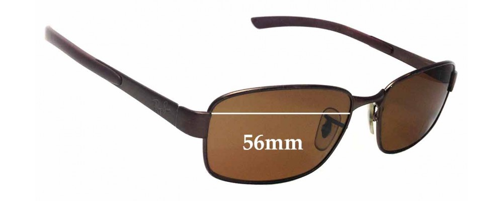 Ray Ban RB3413 Replacement Sunglass Lenses - 56mm Wide