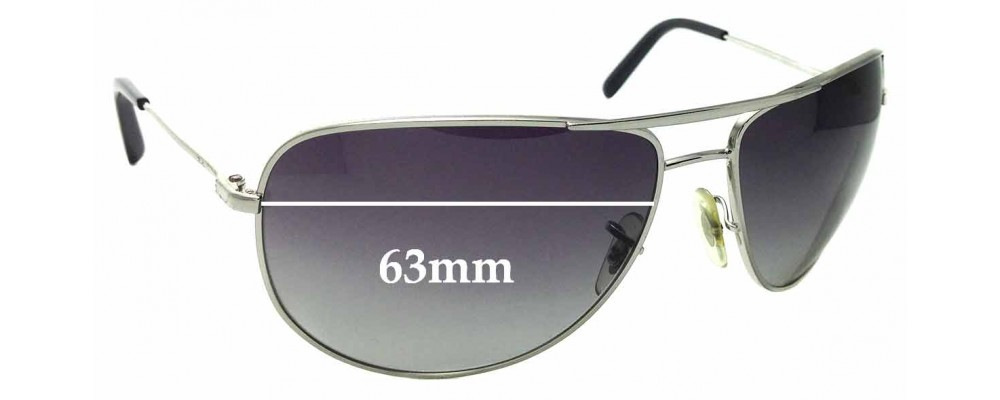 Sunglass Fix Replacement Lenses for Ray Ban RB3468E - 63mm Wide