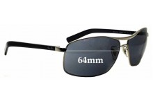 Sunglass Fix Replacement Lenses for Ray Ban RB3470L - 64mm Wide