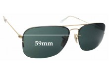 Sunglass Fix Replacement Lenses for Ray Ban RB3482 Flipout - 59mm wide