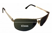 Ray Ban RB3506 Replacement Sunglass Lenses - 61mm Wide