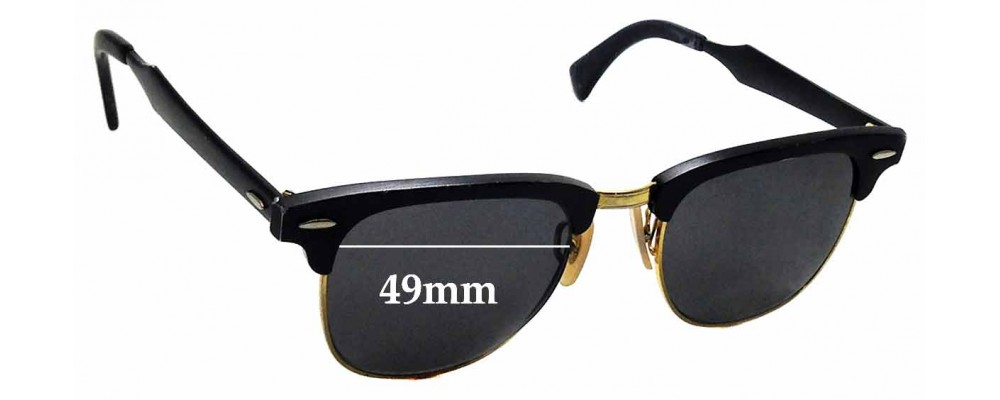 Sunglass Fix Replacement Lenses for Ray Ban RB3507 Clubmaster - 49mm wide