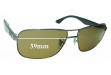 Sunglass Fix Replacement Lenses for Ray Ban RB3516 - 59mm wide