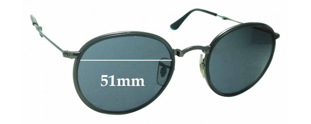 Sunglass Fix Replacement Lenses for Ray Ban RB3517 - 51mm wide