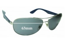 Ray Ban RB3526 Replacement Sunglass Lenses - 63mm across