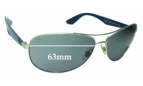 Sunglass Fix Replacement Lenses for Ray Ban RB3526 - 63mm across
