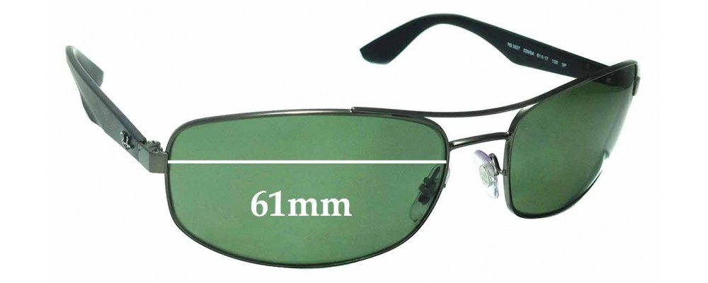 a2b18ce24b Sunglass Fix Replacement Lenses for Ray Ban RB3527 - 61mm Wide ...