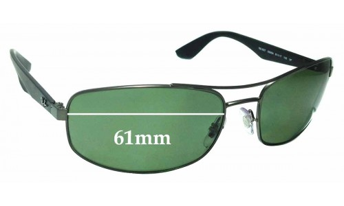 Sunglass Fix Replacement Lenses for Ray Ban RB3527 - 61mm Wide