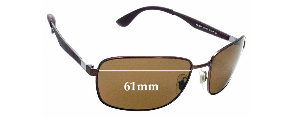 Sunglass Fix Replacement Lenses for Ray Ban RB3529 - 61mm wide