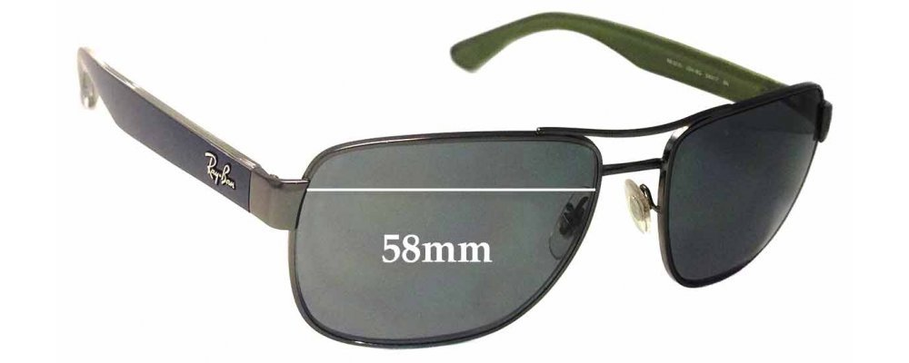 5ac64c7d14 Ray Ban RB3530 Replacement Sunglass Lenses - 58mm Wide