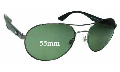 Sunglass Fix Replacement Lenses for Ray Ban RB3536 - 55mm Wide