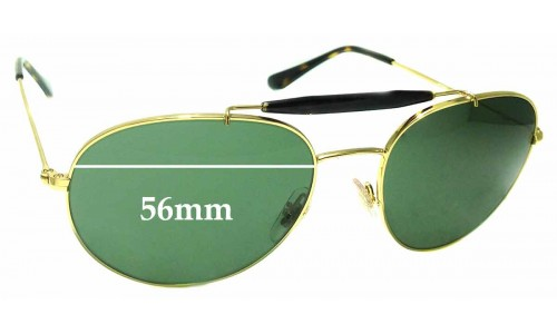 Sunglass Fix Replacement Lenses for Ray Ban RB3540 - 56mm wide