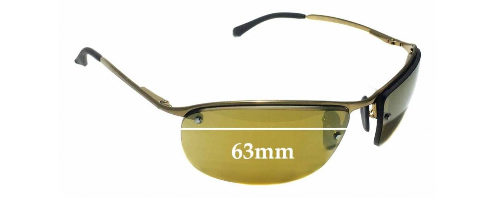 Ray Ban RB3542 Chromance Replacement Sunglass Lenses - 63mm Wide