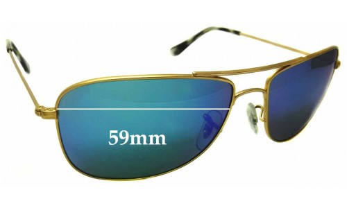 Ray Ban RB3543 Replacement Sunglass Lenses - 59mm wide