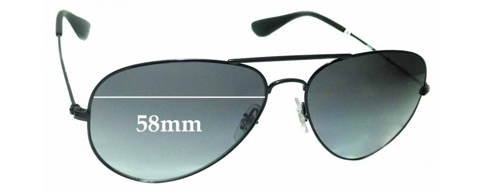 Sunglass Fix Replacement Lenses for Ray Ban RB3558 - 58mm wide