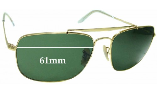 Sunglass Fix Replacement Lenses for Ray Ban RB3560 The Colonel - 61mm Wide