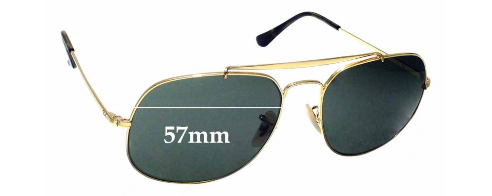 Sunglass Fix Replacement Lenses for Ray Ban RB3561 - 57mm wide