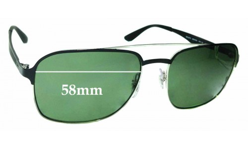Sunglass Fix Replacement Lenses for Ray Ban RB3570 - 58mm wide