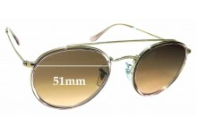 Sunglass Fix Replacement Lenses for Ray Ban RB3647-N - 51mm wide