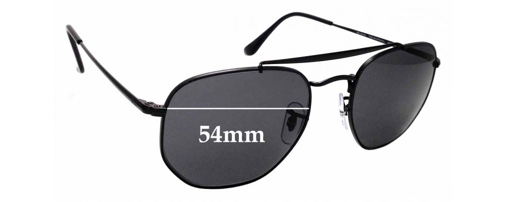 Sunglass Fix Replacement Lenses for Ray Ban RB3648 The Marshal - 54mm wide