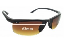 Sunglass Fix Replacement Lenses for Ray Ban RB4056 - 63mm wide
