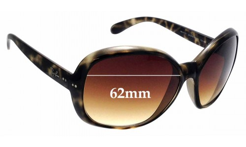 Sunglass Fix Replacement Lenses for Ray Ban RB4113 Jackie Ohh III - 62mm Wide