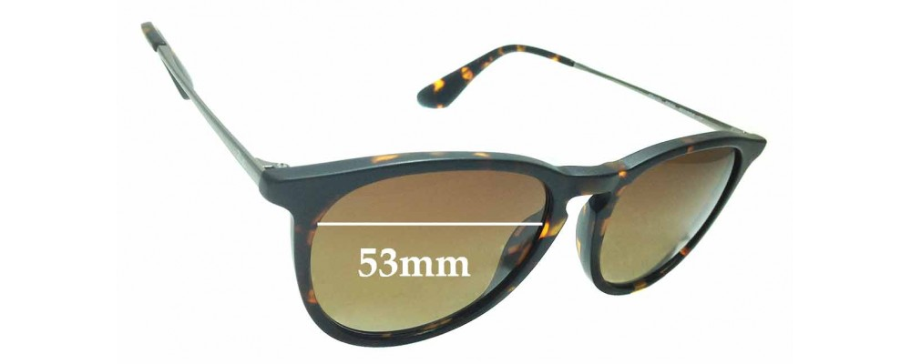 afa5e983c4ec Sunglass Fix Replacement Lenses for Ray Ban RB4171 ERIKA - 53mm wide