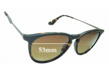 Sunglass Fix Replacement Lenses for Ray Ban RB4171 ERIKA - 53mm wide