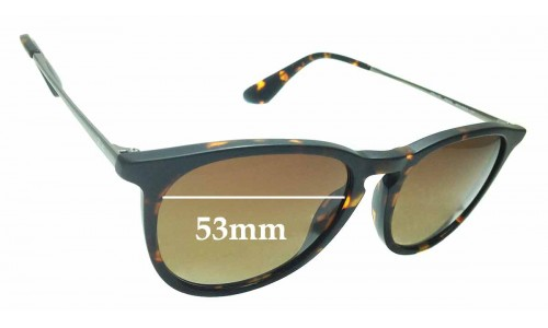 Sunglass Fix Replacement Lenses for Ray Ban RB4171 ERIKA - 53mm wide **Please measure as there are several models**