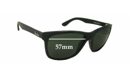 Sunglass Fix Replacement Lenses for Ray Ban RB4181-F - 57mm wide lenses