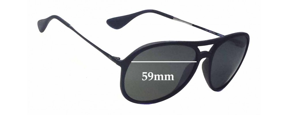Ray Ban RB4201 Alex Replacement Sunglass Lenses - 59mm wide