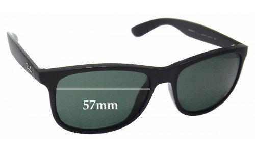 Ray Ban RB4202-F Andy Replacement Sunglass Lenses - 57mm wide