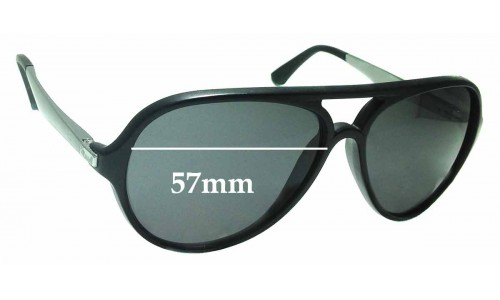 Sunglass Fix Replacement Lenses for Ray Ban RB4235 Havana - 57mm wide