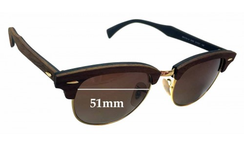 Sunglass Fix Replacement Lenses for Ray Ban Clubmaster RB5154-M - 51mm wide x 39.5mm high