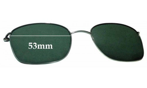 Sunglass Fix Replacement Lenses for Ray Ban RB6042-2502 Clip On- 53mm Wide