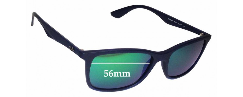 Ray Ban RB7047F Replacement Sunglass Lenses - 56mm wide