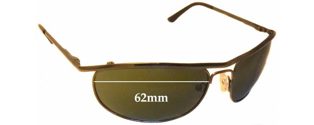 Ray Ban RB8012 Replacement Sunglass Lenses - 62mm wide