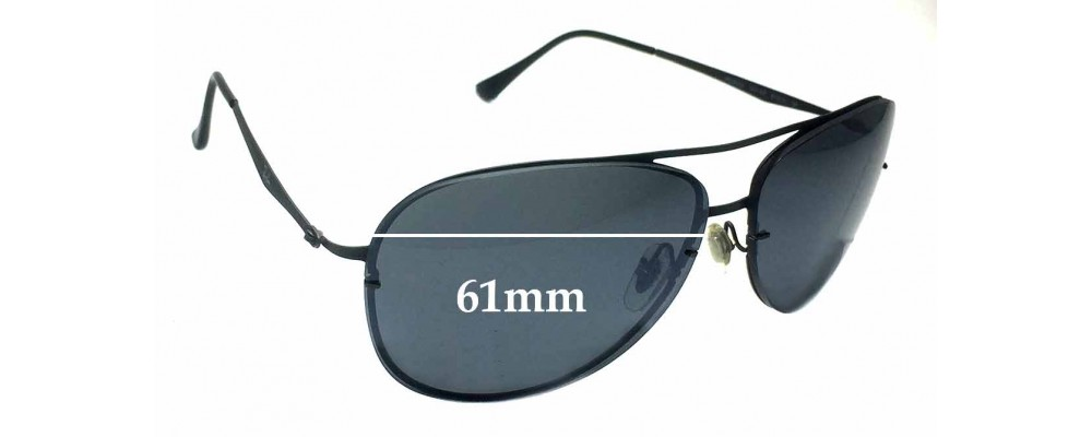 69e71bc48137 Sunglass Fix Replacement Lenses for Ray Ban Aviators RB8052 LightRay - 61mm  across