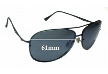 Ray Ban Aviators RB8052 LightRay Replacement Sunglass Lenses - 61mm across