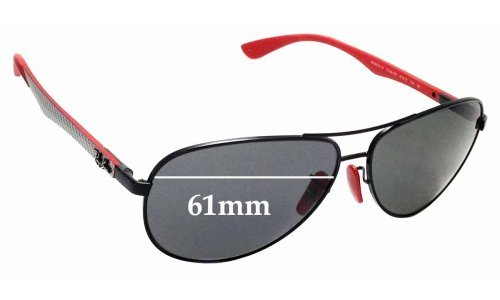 Sunglass Fix Replacement Lenses for Ray Ban RB8313-M - 61mm wide