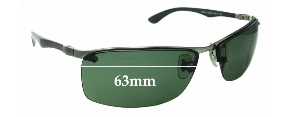 Sunglass Fix Replacement Lenses for Ray Ban Tech RB8315 - 63mm Wide