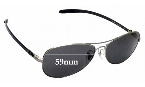 Sunglass Fix Replacement Lenses for Ray Ban RB8403 - 59mm wide